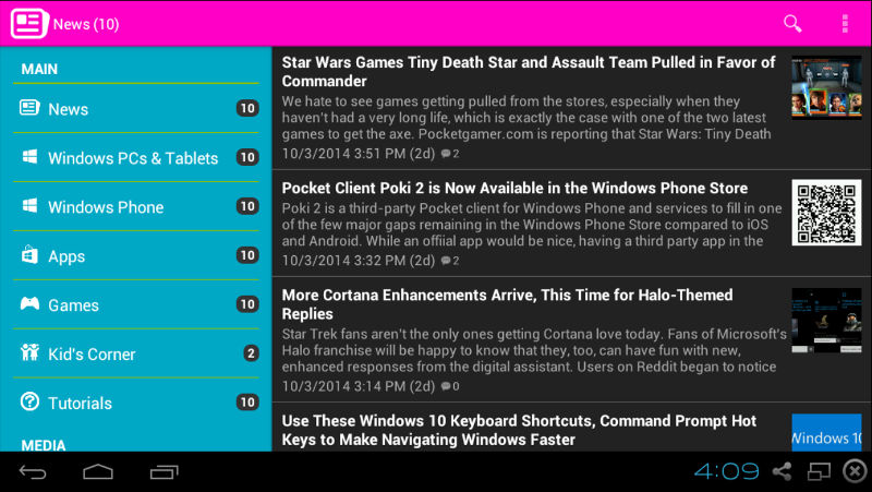 1800PPC android app, 1800Pocket/PC for Android, Windows 10 news app