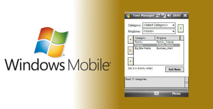 Ringtone manager, Windows Mobile apps, Windows smartphones