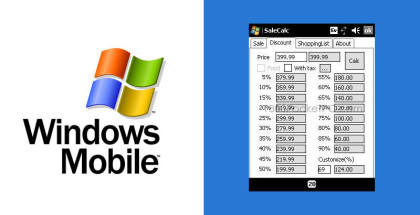 SaleCalc app, Windows Mobile software, Shopping carts