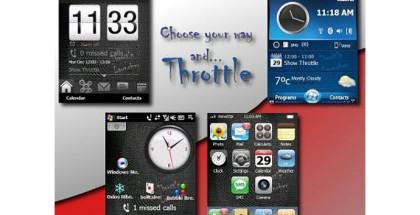 ThrottleLauncher, Windows Mobile software, customize smartphone OS