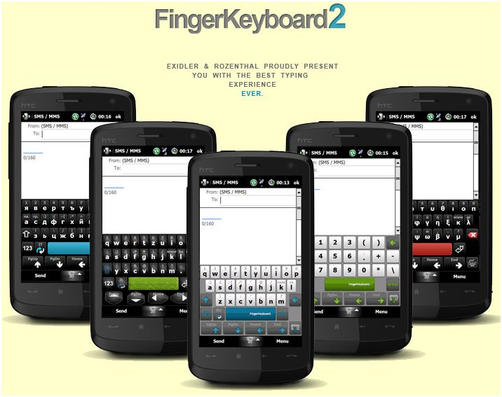 FingerKeyboard, Windows Mobile phone keyboards, Windows apps