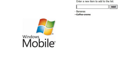 Windows Mobile apps, Shopping list creation, build a checklist for groceries