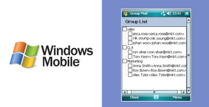 Mobile GroupMail, Windows Mobile apps, Business email