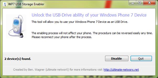 WP7 USB Drive