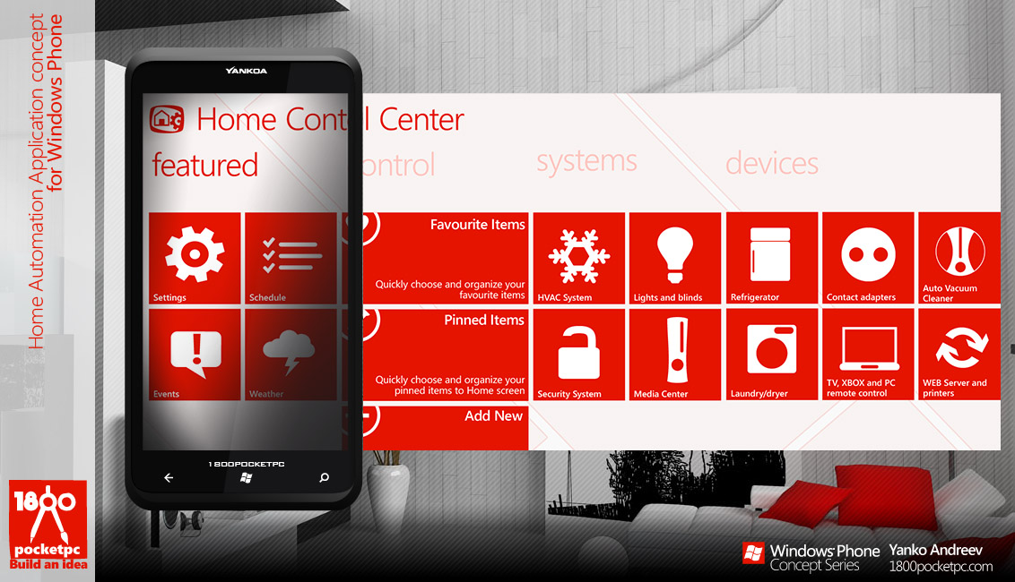 Home Automation App Concept For Windows Phone 1800pocket Pc