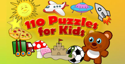 110 Puzzles for Kids, Puzzle games, Child games