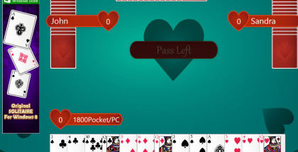 Hearts Deluxe, Hearts Game for Windows, Card Games on Windows 8