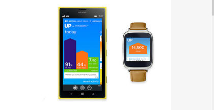 Jawbone Up, WP wearables, Health and fitness apps