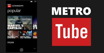 MetroTube, YouTube on Windows