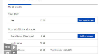 OneDrive, SkyDrive, Cloud storage