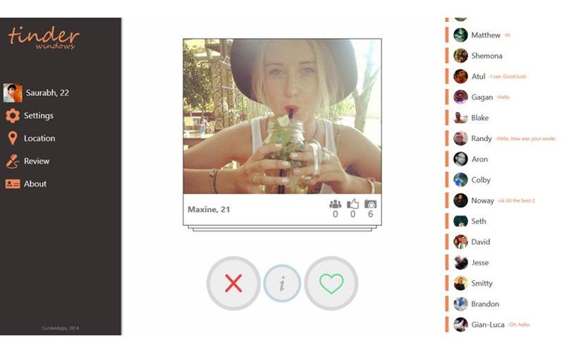 Dating app tinder windows phone
