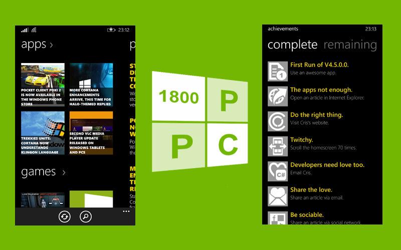 News apps, 1800PPC, 1800Pocket/PC