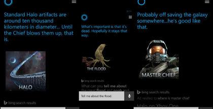 Cortana Halo questions and answers, Cortana screenshots, Cortana on Windows