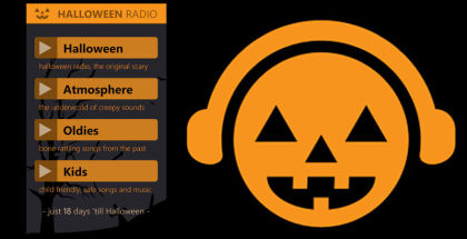 Halloween Radio, halloweenradio.net, music streaming services