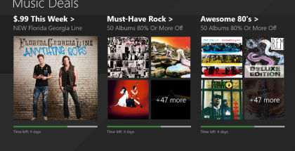 Microsoft Music Deals, Xbox Music, Music Streaming apps