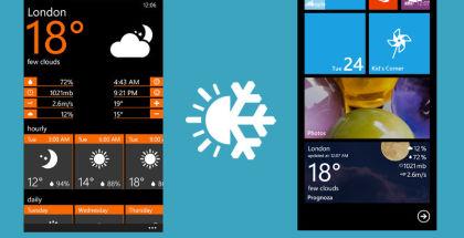 Prognoza, Weather app, Windows Phone apps