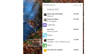 Windows 10, Technical Preview, Action Notification Center