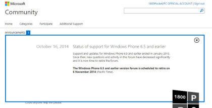 Windows Mobile, Windows Phone 6.5, Windows Mobile 6.5 support