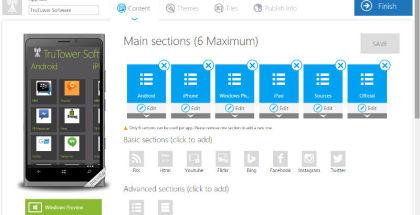 Windows App Studio, Developer tools, app development