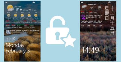 Awesome lock, customize lock screen, Windows Phone lockscreen