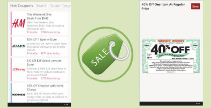 Best Coupon App, mobile phone coupons, shopping apps