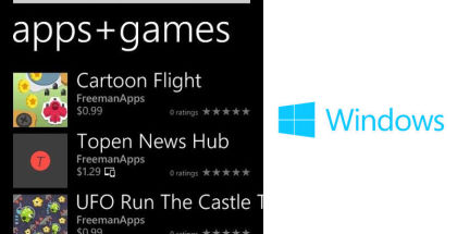 Freeman Apps, Apps for Windows, Games for Windows Smartphone