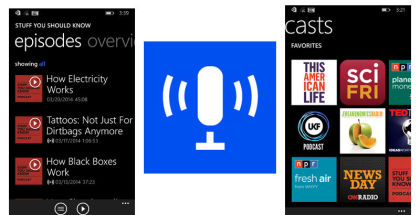 Microsoft Podcasts, Podcast app, Windows Phone