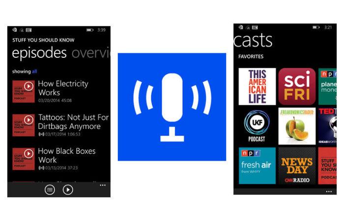 Microsoft podcasts podcast app windows phone