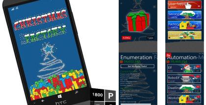 Christmas Factory, Xmas games, Windows smartphone gaming