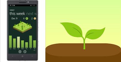 Forest App, Forest for Windows smartphones