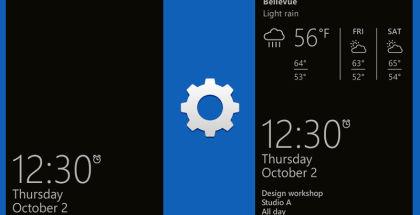 Glance Screen, Glance app, Microsoft Lumia