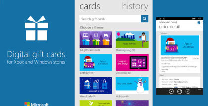 Microsoft Digital Gift Cards, holiday stocking stuffers, app and game giftcards