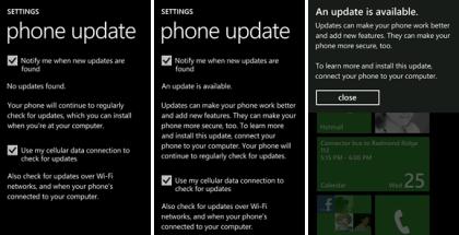 Windows Phone 7 update, WP7 update, updating Winphone