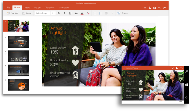 PowerPoint, Office for Windows 10, Microsoft