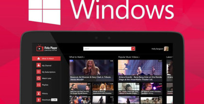YouTube streaming software, download YouTube videos, Media Player for Windows 10