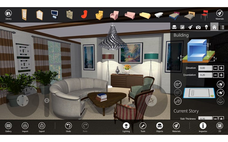 Let your interior design skills fly with live interior 3d Professional interior design software