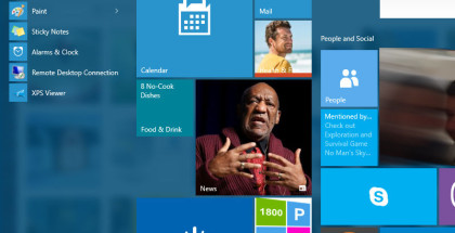 Windows 10 Start menu, Win10 Start Screen, Windows 10 apps