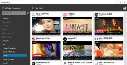 AllTube-Media Player, Windows Media Center alternatives, Win10 youtube