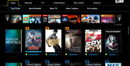 VUDU app, Ultraviolet player, movie streaming