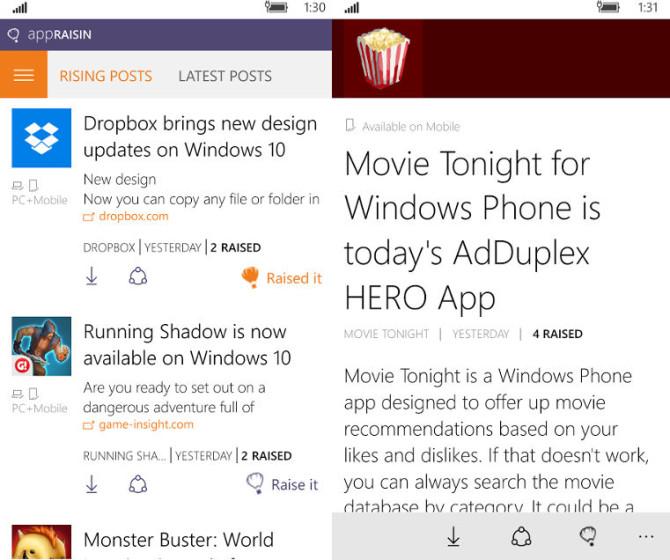 AppRaisin, AdDuplex, Windows 10 devices